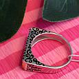 Серебряное кольцо с эмалью и черными камнями - Кольцо печатка серебро 925, фото 9