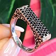 Серебряное кольцо с эмалью и черными камнями - Кольцо печатка серебро 925, фото 6
