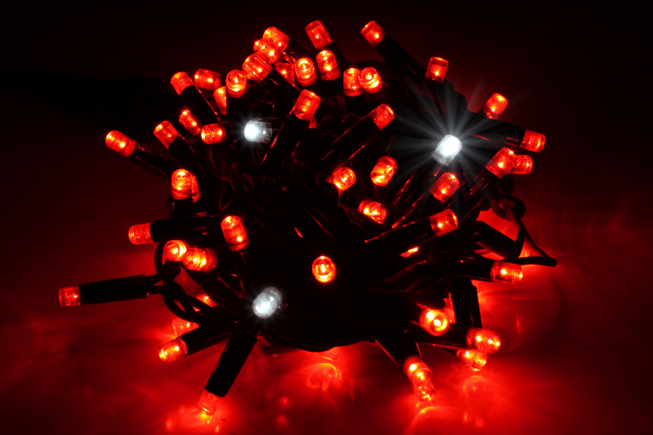 Уличная светодиодная гирлянда нить Lumion String Light стринг лайт100 led цвет красный с мерцанием без каб пит