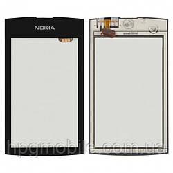 Сенсорный экран для Nokia Asha 305, 306, черный, оригинал