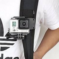 Прищепка большая с поворотом 360° для GoPro 5 6 7 8 Xiaomi Yi 4k Sjcam Eken