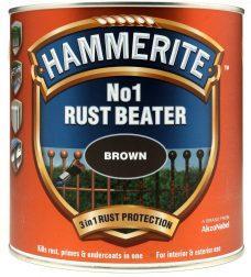 HAMMERITE грунтовочная антикоррозионная краска (№.1 RustBeater) коричневая, 2,5л