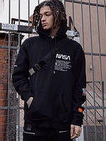 "Черное Худи Heron Preston ""NASA"" Стиль"