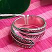 Серебряное кольцо Перышко - Брендовое кольцо с перышком, фото 4