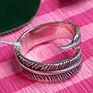 Серебряное кольцо Перышко - Брендовое кольцо с перышком, фото 3