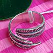 Серебряное кольцо Перышко - Брендовое кольцо с перышком, фото 2