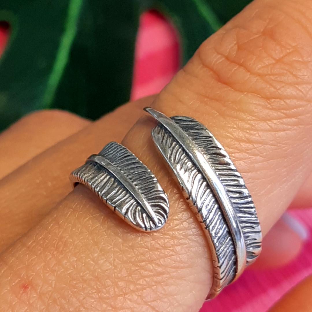 Серебряное кольцо Перышко - Брендовое кольцо с перышком