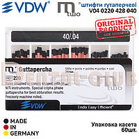 Штифти гутаперчеві М2 - Mtwo VDW (Мту ВДВ) ISO розмір 40/.04