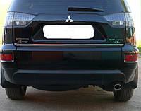 Хром накладка нижней кромки багажника Mitsubishi outlander xl (митсубиси аутлендер), нерж.