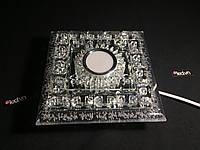 Потолочный светодиодный светильник хрустальный квадрат 18ватт  20см