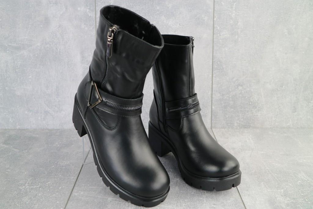 Ботинки женские зимние Emma натуральная кожа чёрные