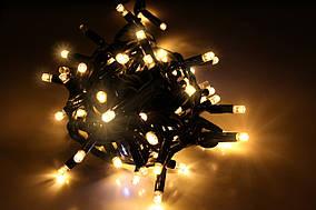 Уличная светодиодная гирлянда нить Lumion String Light (Стринг Лайт) 100 led. Белый теплый мерцающий