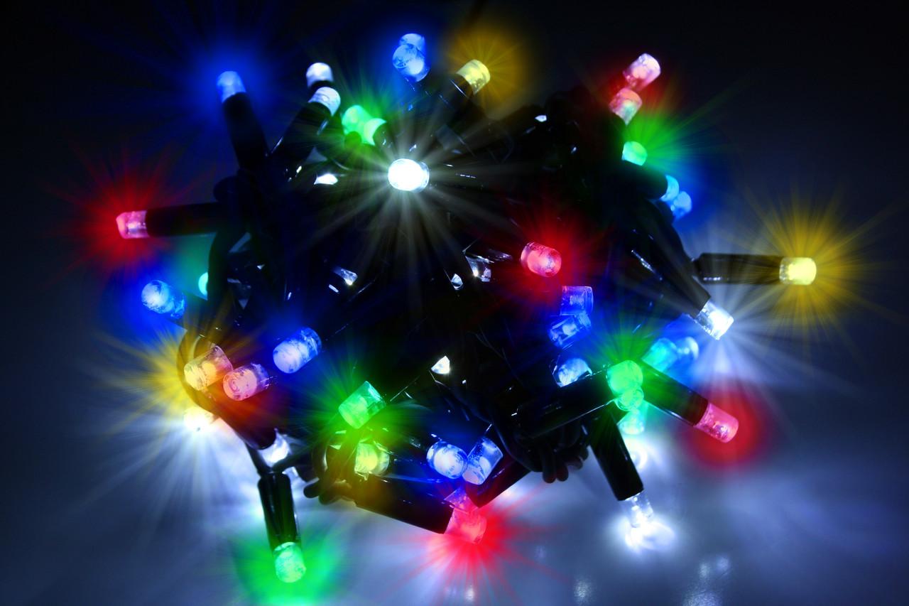 Уличная светодиодная гирлянда нить Lumion String Light Multi Color 100 led наружная мерцающая