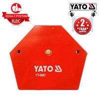 Магнитный угольник для сварки Yato YT-0867, 111х136х24