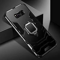 Бронированный чехол IRON MAN с кольцом под магнит для Samsung Galaxy S8 Plus / Samsung Galaxy S8+