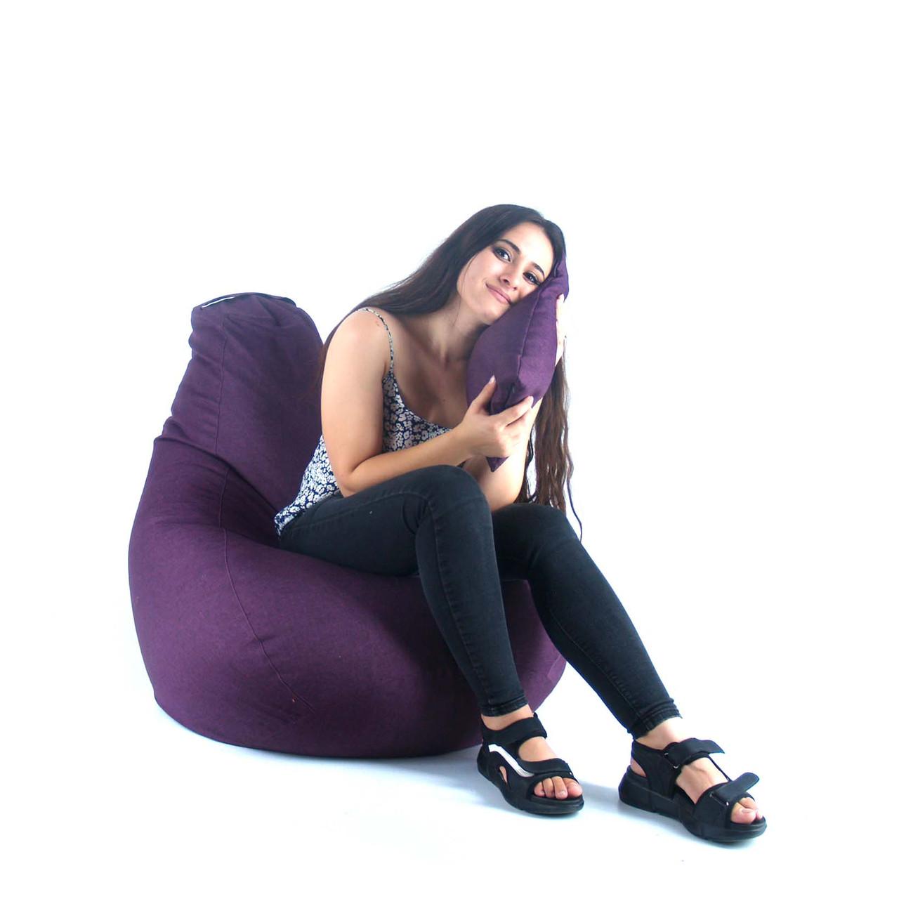 Кресло Мешок, бескаркасное кресло Груша от S до XXL-рогожка