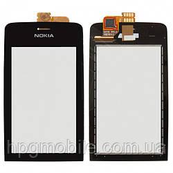 Сенсорный экран для Nokia Asha 308, 309, 310, черный, оригинал