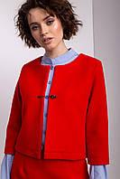 Кашемировый укороченный пиджак CHLOE красного цвета
