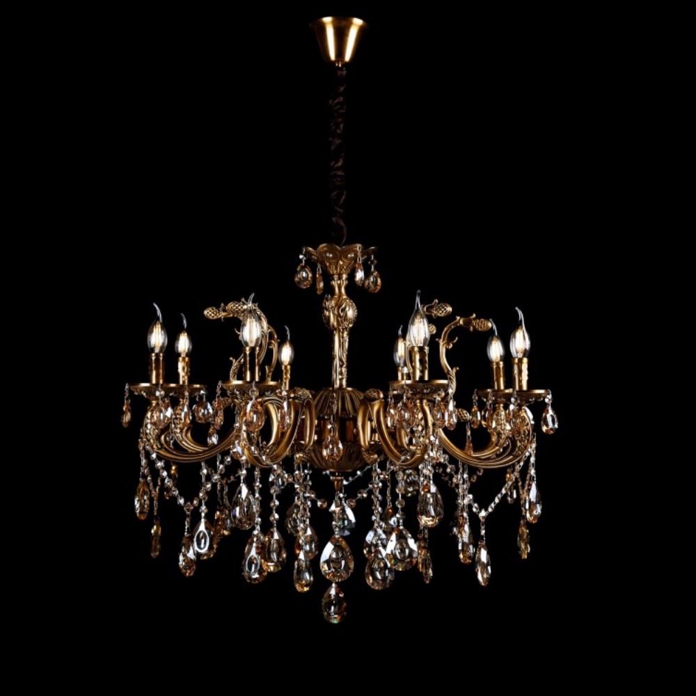 Класична люстра-свічка на 8 лампочок СветМира VL-8114А/8 (GAB)
