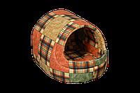 """Домик-лежак (лежанка) для домашних животных Мур-Мяу """"Комфорт"""" Коричневый"""
