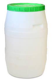 Бидон пищевой Украина белый пластиковый 100 л (66-726)