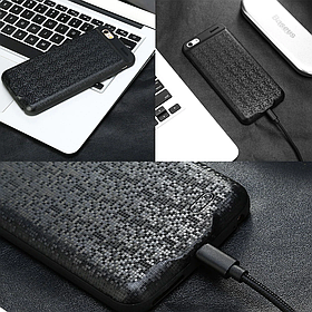 Внешний аккумулятор Power Bank - Чехол Baseus Plaid Backpack 7300mAh для iPhone 6+