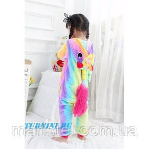Детская пижама кигуруми единорог радужный   155, фото 3
