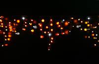 Уличная светодиодная гирлянда бахрома Lumion Icicle Light айсикл лайт 90 led наружная желтый мерц без каб пит