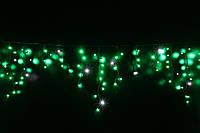 Уличная светодиодная гирлянда бахрома Lumion Icicle Light айсикл лайт 90 led зеленый с мерцанием без каб пит