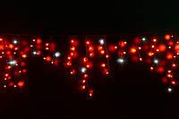 Уличная светодиодная гирлянда бахрома Lumion Icicle Light (Айсикл лайт) 90 led  наружная красный с мерцанием