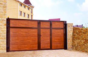 Ворота откатные ADS 400 серии  PRESTIGE 3500*2200 производства Алютех , фото 2