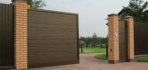 Ворота откатные ADS 400 серии  PRESTIGE 3500*2200 производства Алютех , фото 3