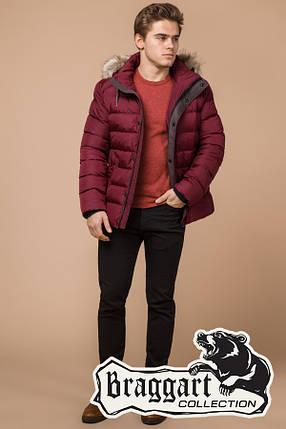 Мужская красная зимняя куртка с мехом (р. 46-56) арт. 16115N, фото 2