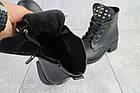 Ботинки женские зимние Sezar из натуральной кожи чёрные, фото 5