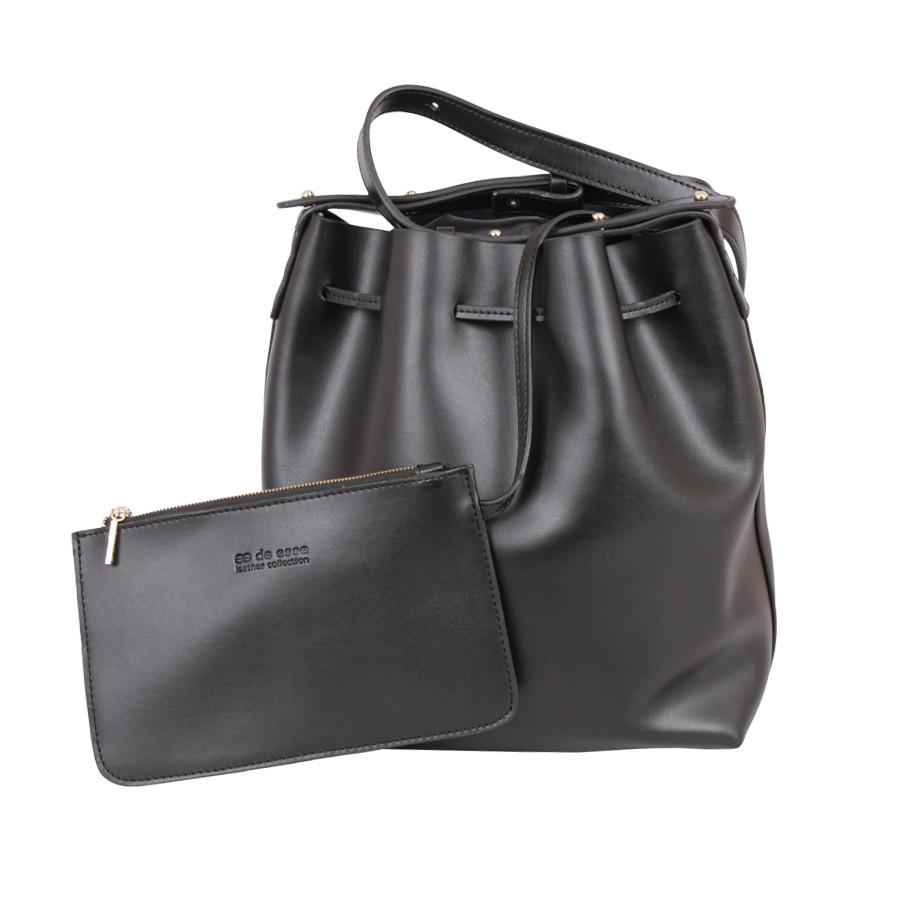 Женская сумка-мешок de esse чёрная