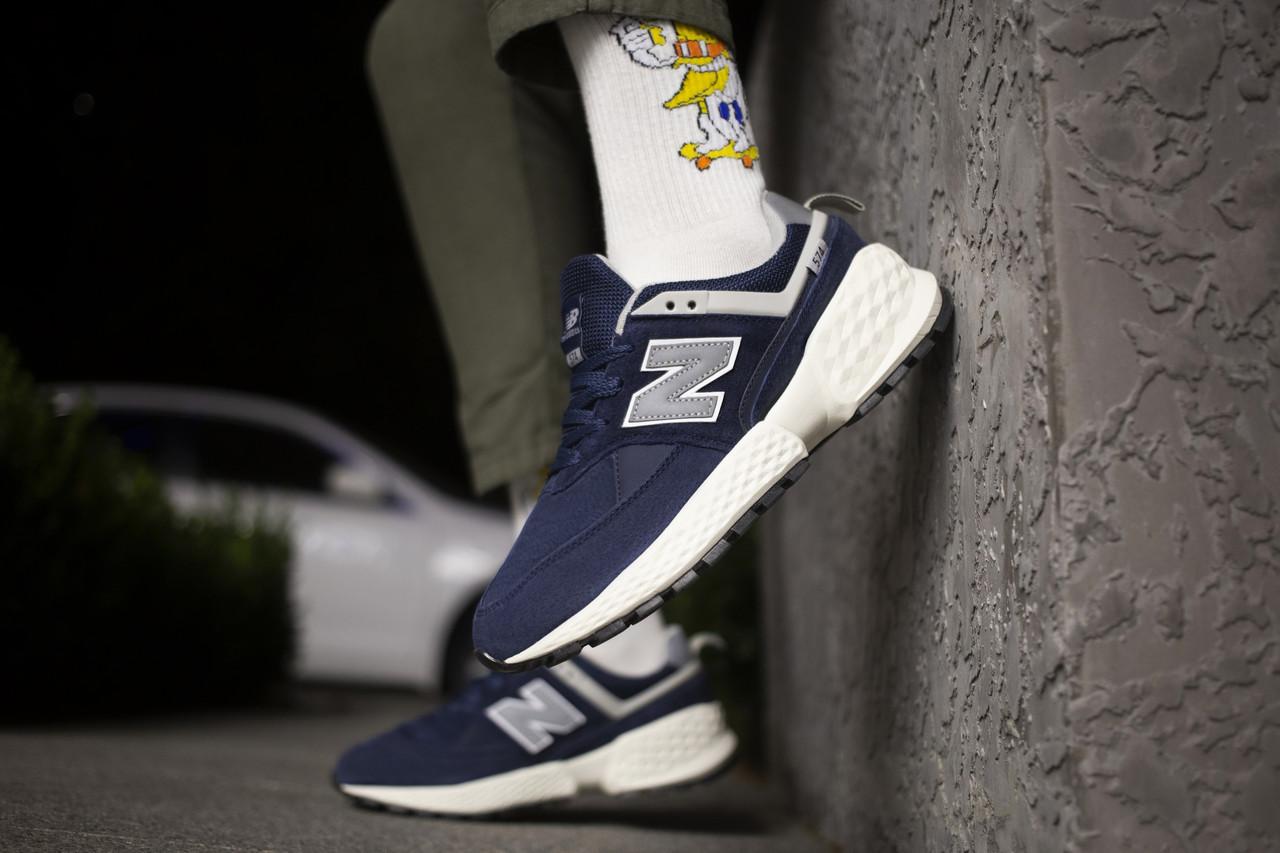 Мужские кроссовки  New Balance 574 Blue ( Реплика )
