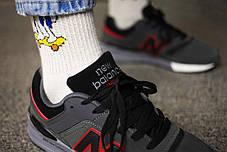 Мужские кроссовки  New Balance 997 Grey Red ( Реплика ), фото 2