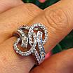 """Серебряное родированное кольцо с фианитами """"багет"""" - Брендовое стильное кольцо серебро, фото 5"""