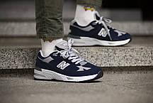 Мужские кроссовки  New Balance 991 Dark Blue ( Реплика ) 41 размер, фото 2