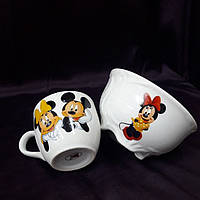 Керамическая детская посуда Микки Маус