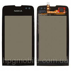 Сенсорный экран для Nokia Asha 311, черный, оригинал