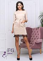 Офисное трикотажное платье  0203/03, фото 1