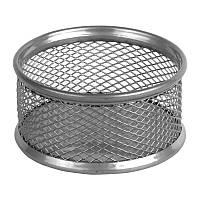 Подставка для скрепок Axent металлическая серебристая