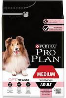Сухой корм Pro Plan  Dog Medium Adult Sensitive Skin (Лосось)на развес