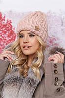 Модная женская шапка крупной вязки в 6ти цветах 4633