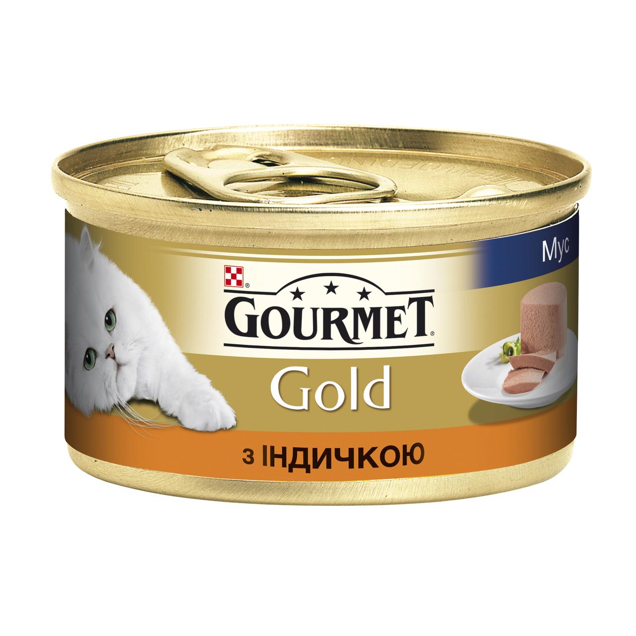 Влажный корм для кошек Gourmet Gold Pate Turkey 85 г  x 12 шт (индейка)