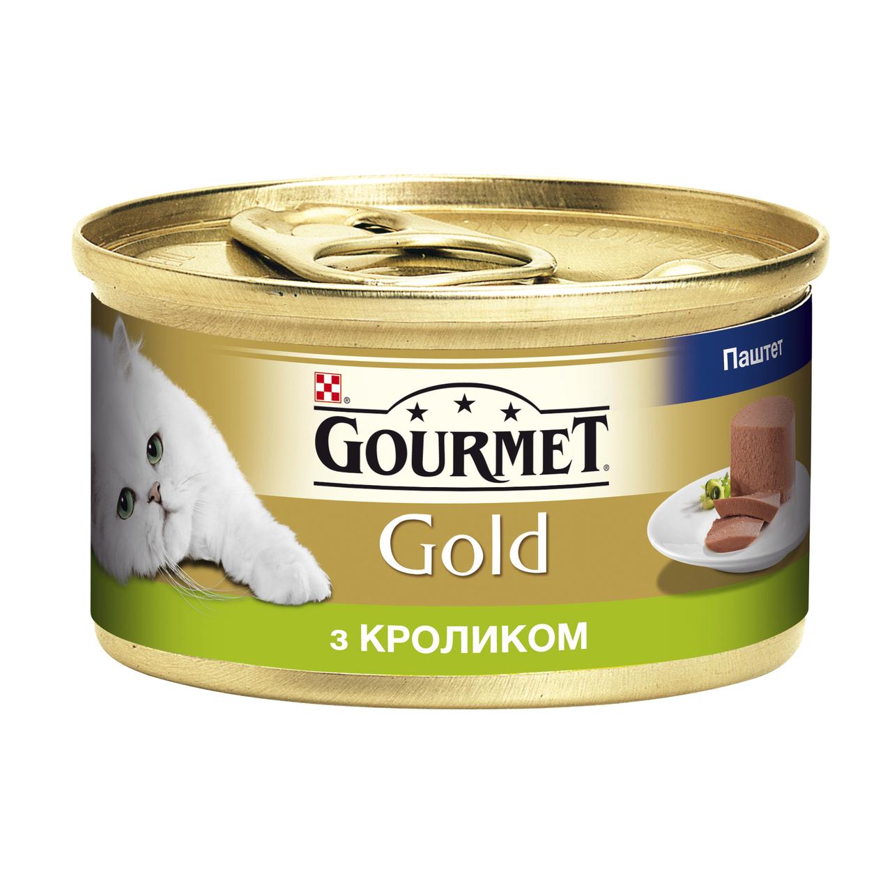 Влажный корм для кошек Gourmet Gold Pate Rabbit 85 г x 12 шт (кролик)