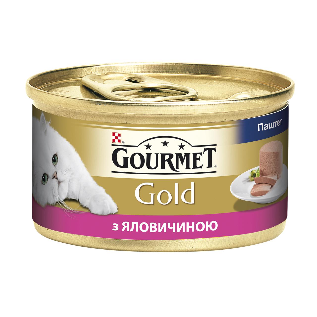 Влажный корм для кошек Gourmet Gold Pate Beef 85 г x 12 шт (говядина)
