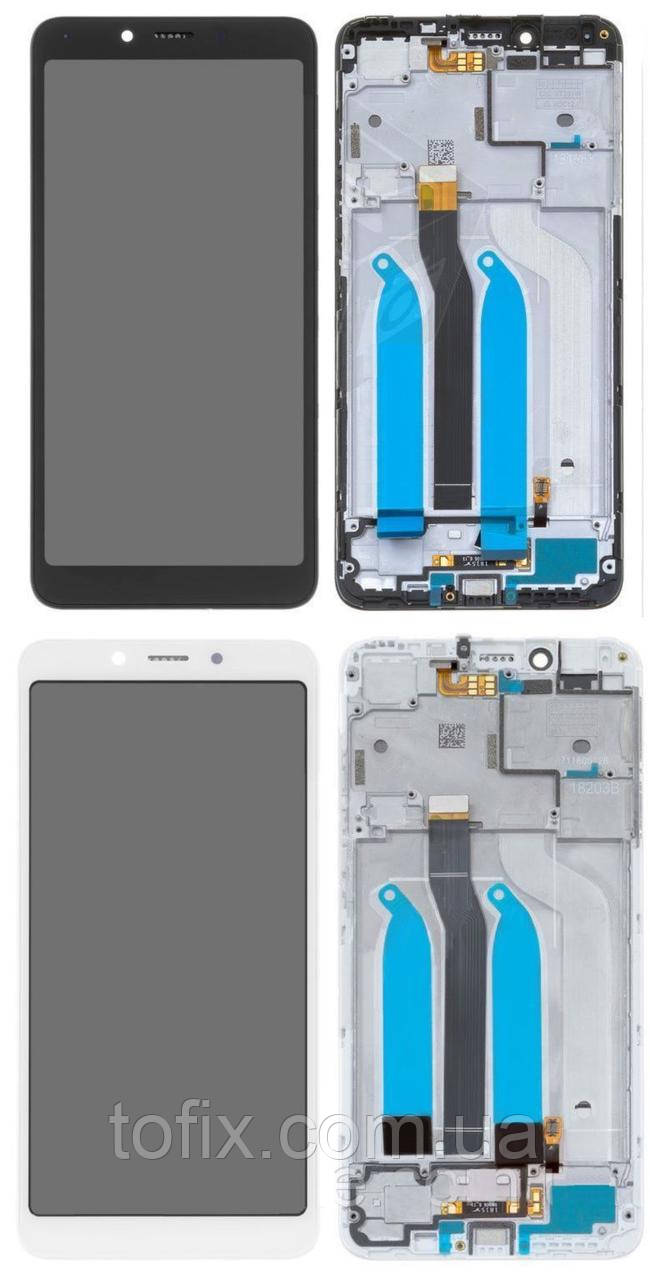 Дисплей для Xiaomi Redmi 6, Xiaomi Redmi 6A, модуль (экран и сенсор) с передней панелью, оригинал