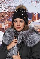 Шикарная женская шапка зимняя с помпоном в 8ми цветах 5020